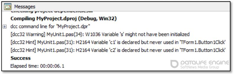 Переменные и константы в Delphi XE